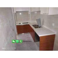China Foshan Weimeisi Polished Artificial White Marble Kitchen Island Stone Quartz Countertop/Worktop on sale