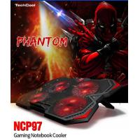 Quality Low Price laptop cooling pad portable laptop cooler pad usb fan with red LED light for sale