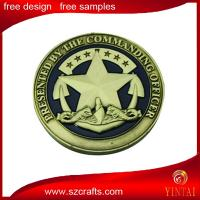 China marine corps metal souvenir coin/metal trolley/brass heads i win tails you lose medal token co on sale