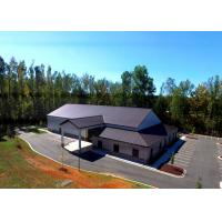 Gable Style Architectural Commercial Steel Frame Buildings With Hipped Lean-To Manufactures