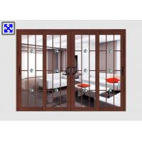 China Frosted Glass Aluminum Door Profiles Excellent Thermal Conductivity Custom Size on sale