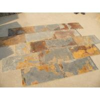 S1120 Slate Natural Cleft Chinese Multicolor Slate Pavers Rusty Slate Patio Stones Manufactures