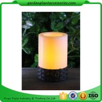 White Plastic Candle Solar Garden Lights Battery Operated With Black Wick  shrinkwrap+belly band 17x17x12cm 3.33kgs/ctn Manufactures