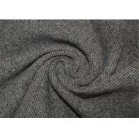 Waterproof Tweed Wool Fabric Grey With Environmental Material Lightweight Manufactures