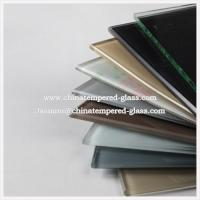 5mm Round Euro Grey Silk Screen Printed Tempered / Toughened Glass for Glass table tops