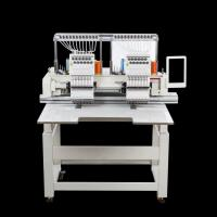 Quality High Speed Commercial Double Head Embroidery Machine 12 Colors Computerized for sale