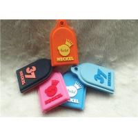 China SGS Personalized Promotional Gifts / Multi - Colored Embossed Or Debossed Silicon PVC Keychain on sale