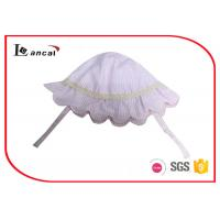 China 100% Cotton Seersucker Bucket Hat , Pink Cute Baby Hats With Cotton Sheeting Lining on sale
