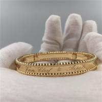 Worldwide Shipping VCA Perlée Signature Bracelet in yellow gold medium model VCARO3YA00 Manufactures