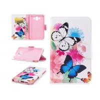 Colorful Butterfly Card Pocket Phone Case , Huawei Phone Wallet Case Manufactures