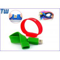 China Colorful Easy to Carry Silicon Wristband Thumb Drives 2GB 4GB for Gifts with Logo Printing on sale