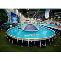 Funny Above Ground Metal Framed Swimming Pools / 10ft Steel Frame Swimming Pool Manufactures