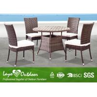 All Weather Wicker Garden Furniture Table And Chairs , 5 Pc Patio Dining Set Pest Control Manufactures