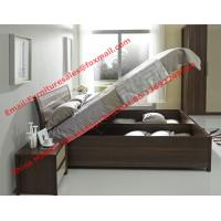 Lift mechanism storage bed in classic wooden bedroom furniture Manufactures