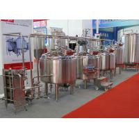 Micro Automatic Commercial Beer Brewing Equipment Mirror Polish Inner Surface Manufactures