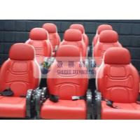 Outside Mobile 6D Movie Theater 3 / 4 Seat Per Set Motion Chairs With Red Color Manufactures