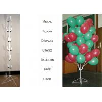 Balloons Tree Metal Display Floor Stands with Wire Foldable Base / 8 PairsTubular Holder Balloon Metal Display Racks Manufactures