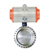 China Tianjin Cast Iron Gearbox Double Flange Butterfly Valve on sale