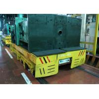 Flat Mounted Mold Transfer Cart , Forklift Coil Handling Material Moving Carts Manufactures