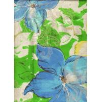 China Flower Fluorescence Color Transfer Printing Fabric , Sublimation Printing Fabric on sale