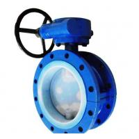 PTFE Lined Flanged Butterfly Valve Manufactures