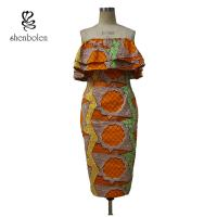 Sleeveless Style Women Knee Length African Print Dresses For 18-45 Age Manufactures