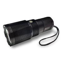 High Lumen Rechargeable LED Flashlight IP67 Waterproof For Security Manufactures