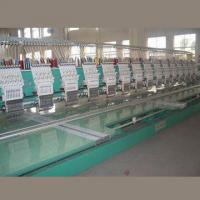 China Flat Computerized Embroidery Machine, 5/10-inch TFT Color LCD Screen, 450 to 600rpm Rotation Speed on sale