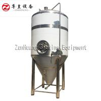 Silver 2000L 3000L Brewery Tanks Stainless Steel Beer Conical Fermenter Manufactures
