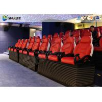 Fiber Glass Ride Experience 5D Movie Theater Simulator System With Red Chair Manufactures