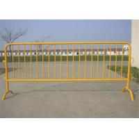 China Galvanized Steel Portable Crowd Control Barricades For Road Traffic Safety on sale