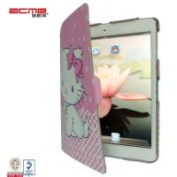 Exquisite stylish print PU leather flip case cover smart stand for ipad 5, slim compact, Manufactures