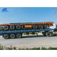China 40 Flatbed 3 Axles  Container Semi Trailer 50 Tons Loading Capacity With Led Lights on sale