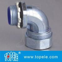 Liquid tight Flexible Conduit And Fittings steelConnector 90 Degree Angle Manufactures