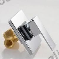 Quality conceal shower mixer faucet set with round celling shower head,Square brass for sale