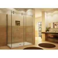 Decorative Custom Bathroom Shower Glass4-12mm Thickness For Shower Room Manufactures