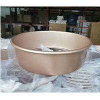 Shallow Baking Cheese Cake Pan Mould Bakeware Golden Color With Removable Bottom Manufactures