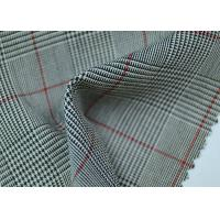 100% Polyester Cotton Yarn Dyed Fabric / Grey Striped Fabric Eco - Friendly