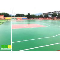 China Green SPU sports flooring material for basketball Sport Court Surface flooring on sale