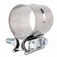 Stainless Steel Lap Joint Exhaust Band Tube Clamp Round With 1 Block Manufactures