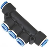 Multiple Tee with Mounting Holes One Touch Pneumatic Push in Fittings