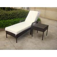 Outdoor Pool side Sun Lounge Daybed Set Poly Rattan Furniture Cushion Cover Manufactures