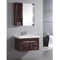 Small Wall Mounted Single Sink Wooden Bathroom Vanity Cabinet  (S6096) Manufactures
