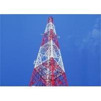Self Supporting Mobile Angle Steel Tower , Hot-dip Galvanizing 55m 4 - Leg Cell Phone Angle Steel Tower Manufactures