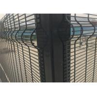 358 security wire fence panels powder coated orange & black mesh 76.20mm x 12.70mm with 4 v fold Manufactures