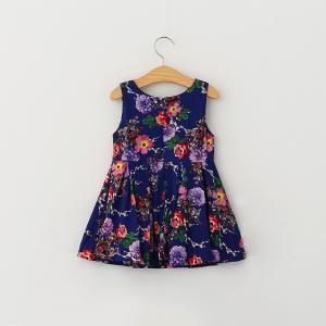 Quality Wholesale summer Girls Dress fashion floral pattern dress children customizable for sale