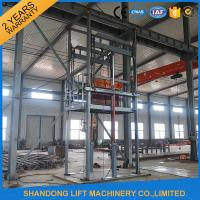 Guide Rail Chain Hydraulic Elevator Lift , 4 Post Material Lifting Equipment 4 tons 6m Manufactures