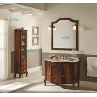 Waterproof Solid Wood Transitional Bathroom Vanities With Left Or Right Side Cabinet Manufactures