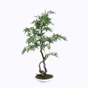 China Bright Spot Artificial Maple Bonsai Tree , Artificial Plants Bonsai Fill Any Space on sale