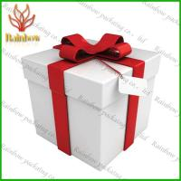 Luxury White  Paper Packaging Boxes For Shopping With Pantone Color Printing Manufactures